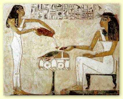 Ancient Egyptian Enjoing Wine
